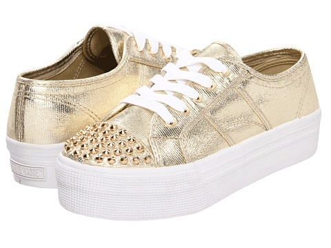 http://janepilebni.tumblr.com, Steve Madden Braady-S - Make a sassy statement with these sweet Steve Madden? sneakers!Lace-up closure. Metallic fabric upper with studded toe. Fabric lining. Cushioned fabric footbed. Man-made sole with a fabric finish. Imported. Product measurements were taken using size 8. 5 MD - Medium. Please note that measurements may vary by size. Check out these comfort-enhancing accessories: