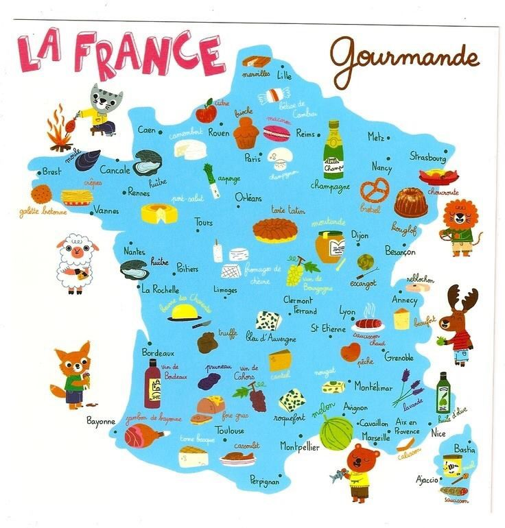 Popular french foods by region