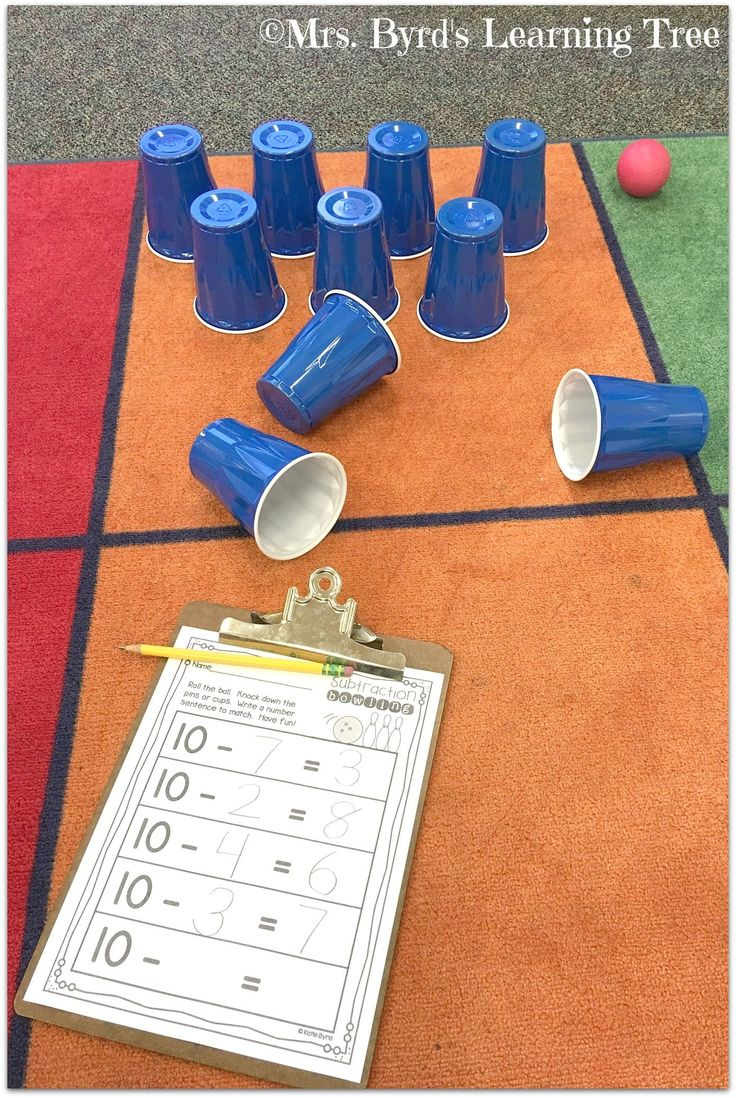 Subtraction bowling is so much fun! Grab these sheets to practice math facts in your kindergarten or first grade classroom. $ #mathpracticegames