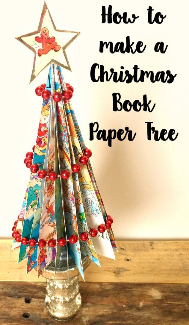 How to make a Christmas Book Paper Tree