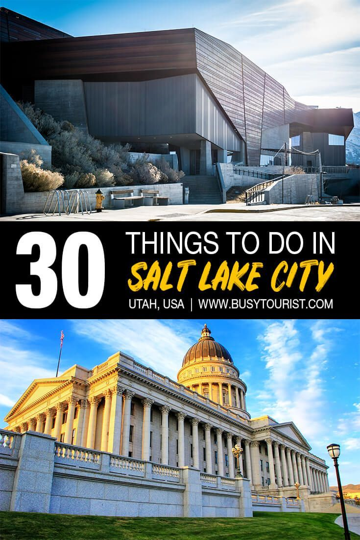30 Best Fun Things To Do In Salt Lake City Utah Salt Lake City Utah Salt Lake City Travel