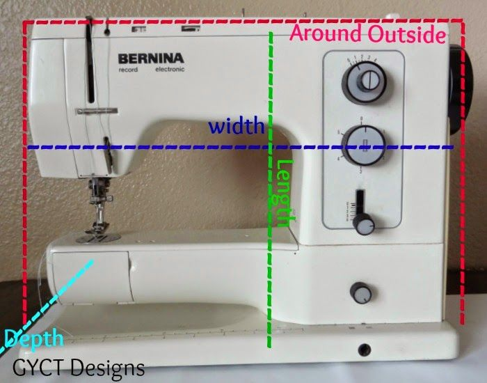 bernina sewing machine cover pattern