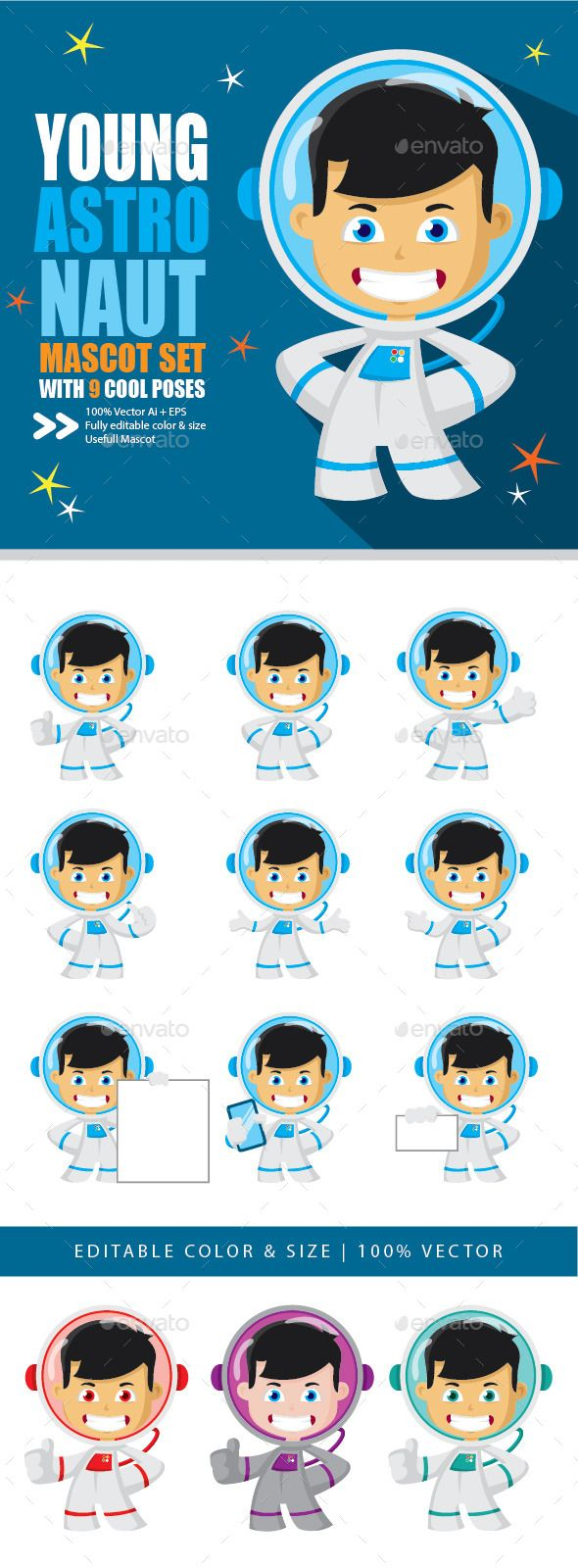 Astronaut Mascot Vector
