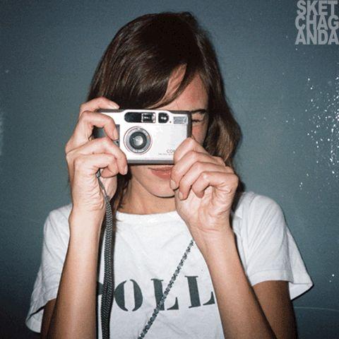 Smile for Alexa gif by Sketchaganda Alexa Chung Pop art