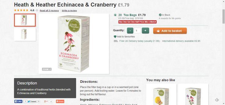 Heath & Heather Echinacea and Cranberry
