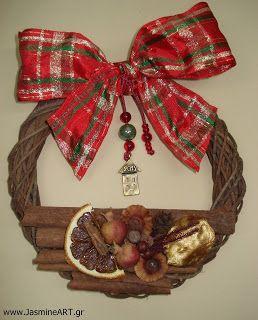 χειροποιητα κοσμηματα: Χριστουγεννιάτικα Στεφάνια
