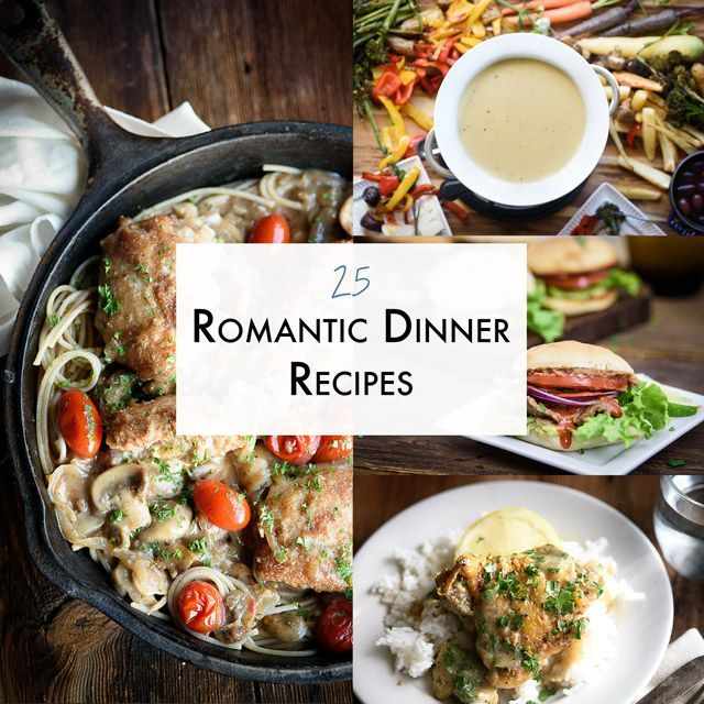 Skip the crowd and spoil your special someone in your life with these romantic dinner recipes. These stay in date night recipes are great for sneaking in a date after the kids go to bed too!