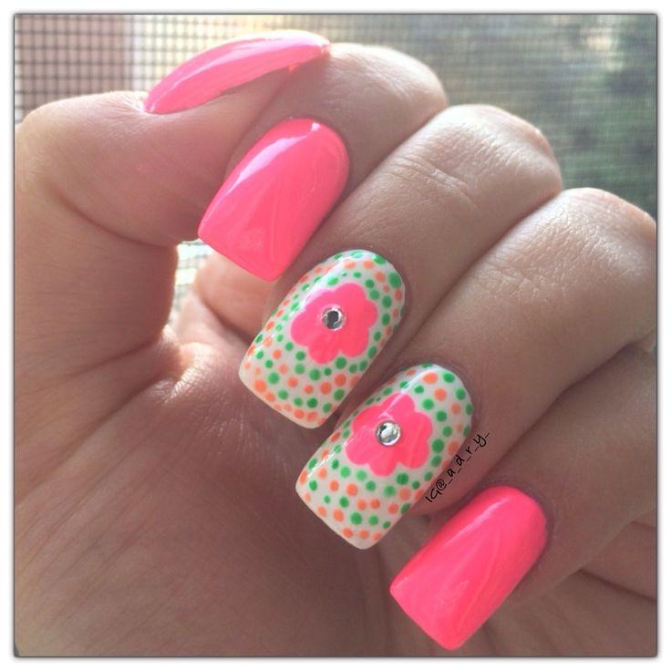 130 best Flower Nail Designs images on Pinterest | Nail scissors ...