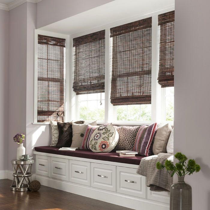 Woven Roman Shades Lowes Shop Levolor Mahogany Light