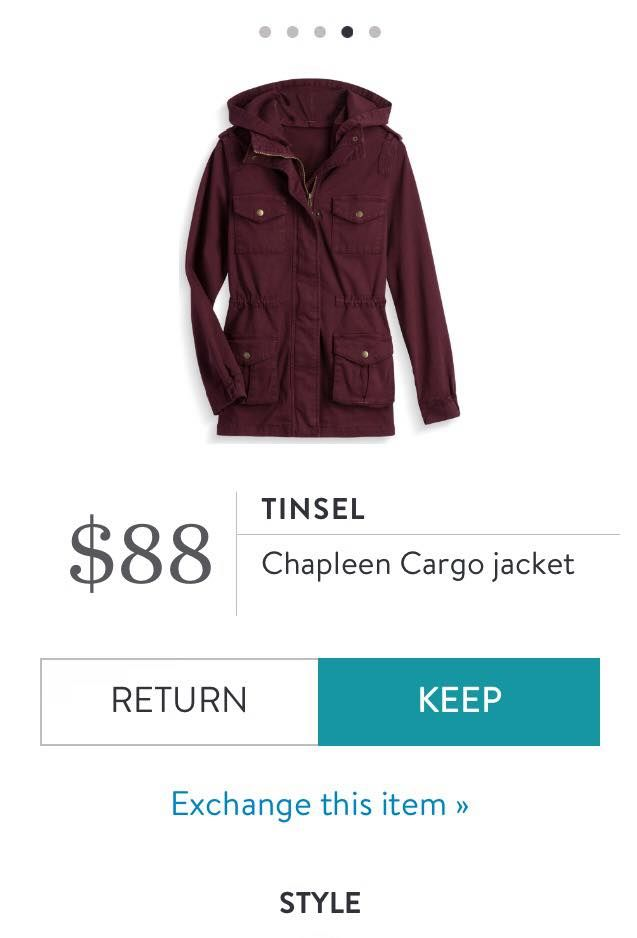 Tinsel Chapleen Cargo Jacket.  Completely in love with this! https://www.stitchfix.com/referral/8592117