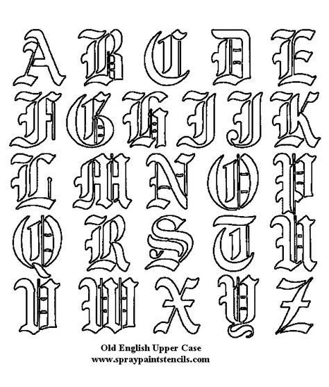 Old English calligraphy, also referred to as blackletter