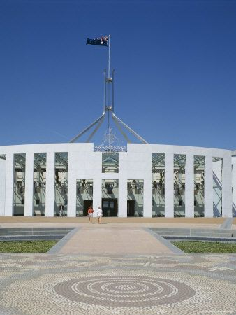 Exterior of the New Parliament Building, Canberra, Australian Capital Territory (Act), Australia