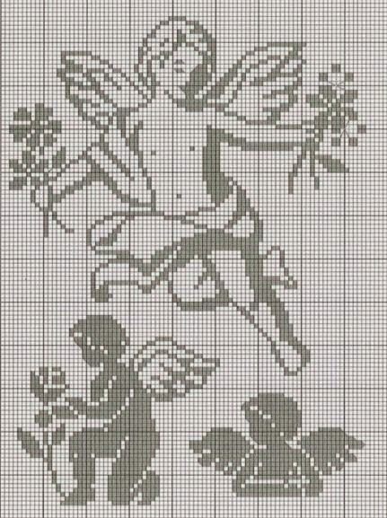 angelo filet   Hobby lavori femminili - ricamo - uncinetto - maglia