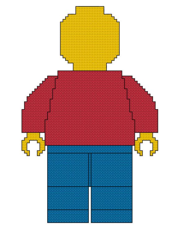 Lego Man Cross Stitch Pattern by SpareTimeCrossStitch on Etsy, $3.00