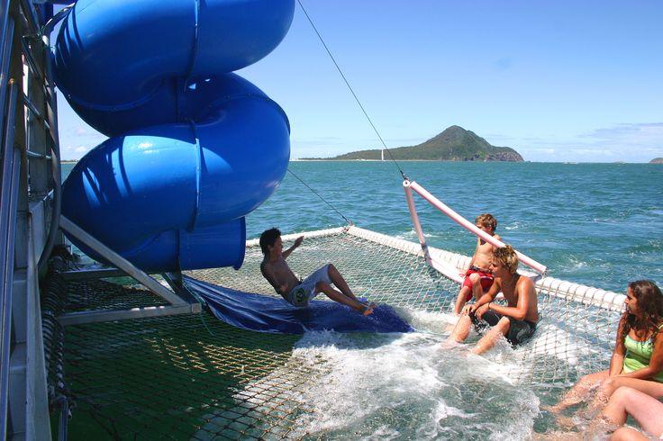Twirly Slide on board Moonshadow V - Dolphin Watching Cruise aboard Moonshadow Cruises Port Stephens