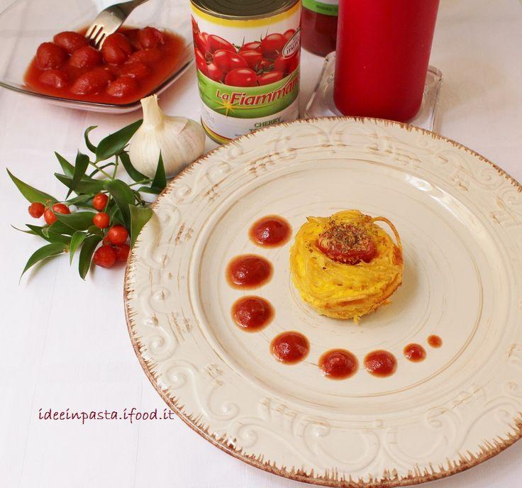 Nidi di spaghetti con pomodorini La Fiammante by Idee in pasta