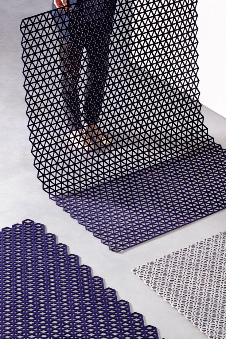 Triangle Indigo, 120 x 180 cm Design, Knitting, Studio