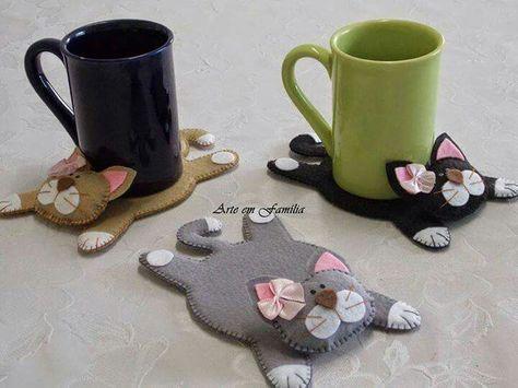 Felt Kitty Coasters #1