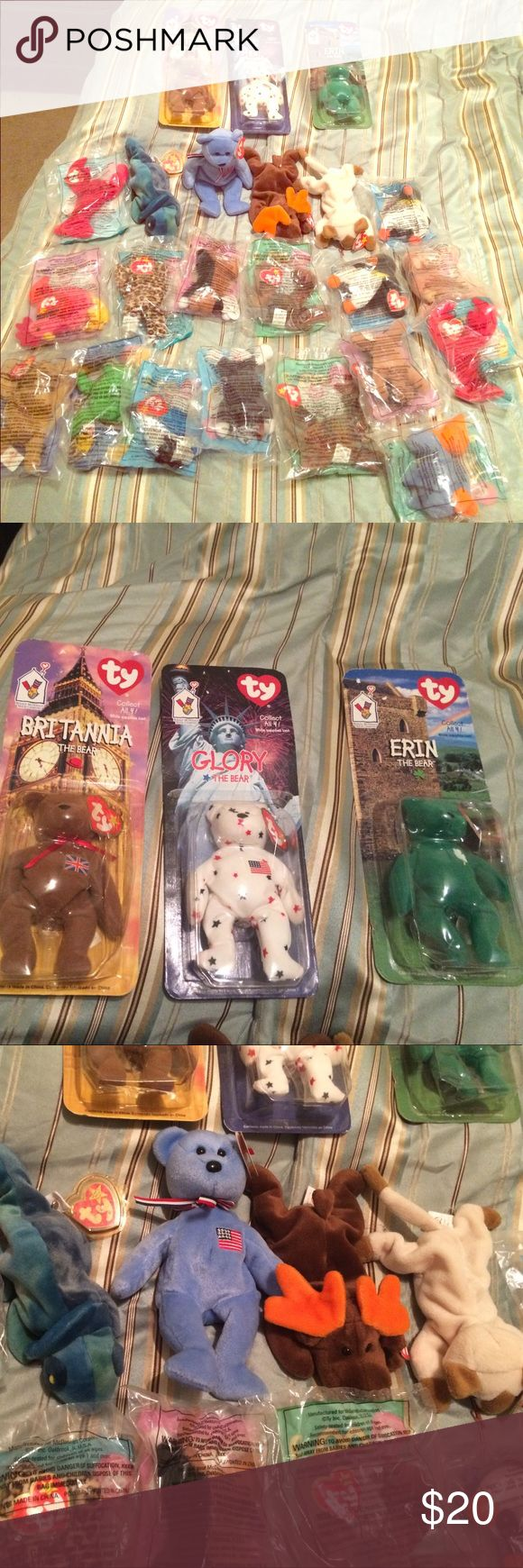 Beanie babies and McDonalds beanie babies 93'-96'-97'-98'-99'2001' year whole collection. Sold altogether make me a offer beanie babies Other