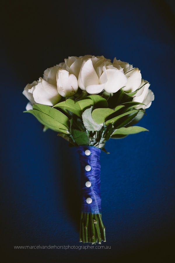 Wedding Flower Bouquet Tulips Blue White www.marcelvanderhorstphotographer.com