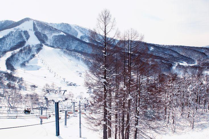 Lifts and Light at at Madarao Mountain Ski Resort Japan
