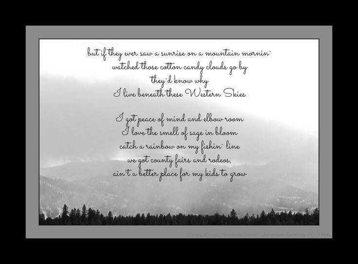 garth brooks and chris ledoux relationship poems