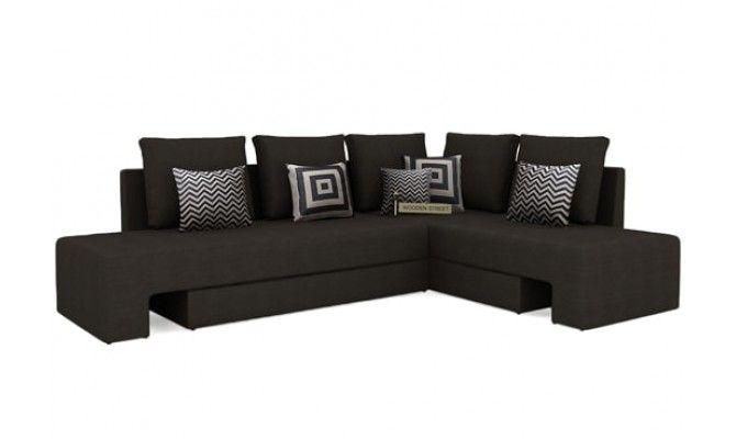 Get Great Deals on Mckellen l shape corner sofa (Brown) at WoodenStreet. Buy Wooden Furniture Online with ✓ Elegant Designs ✓ Free Shipping