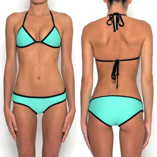 stand out in triangl 39 s miami mint neoprene bikini click here. Black Bedroom Furniture Sets. Home Design Ideas