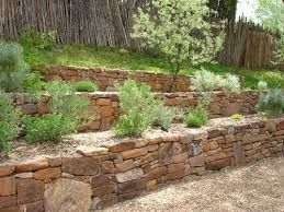 Image result for angled stone garden wall