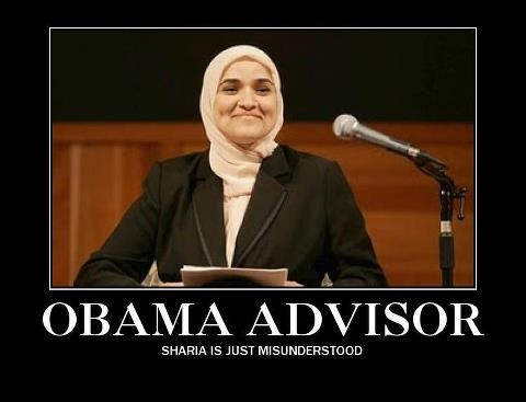 Obama adviser on Muslim affairs, Dalia Mogahed said Sharia law is misunderstood.   Yeah - I see how MISUNDERSTOOD it is every time I see pictures of STONINGS....BEHEADINGS....TERRORIST BOMBINGS....CHRISTIAN AND JEWISH PERSECUTION............right....totally.....NOT!!!!