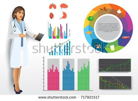 Medical infographic elements vector design set, with doctor for healthcare, research, health information infographics, and various diagram.