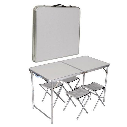 4 Chair Folding Table Set Outdoor Picnic Camping Garden Portable Kitchen Dining Aaa
