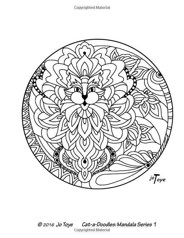Amazon.com: Cat-a-Doodles Adult Coloring Book: Mandala Series 1: Flowers, Hearts and Really Cute Cats (Volume 2) (9781535442220): Jo Toye: Books