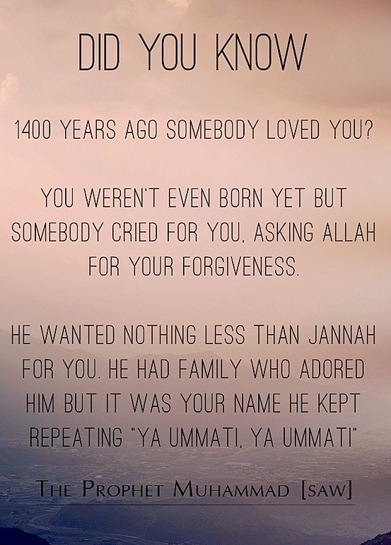 Subhanallah...Our Prophet Muhammad Sallallahu-alaihiwasallam. May we meet you in Jannah ya Nabi ALLAH! Ameen!