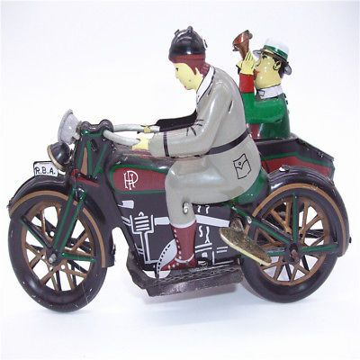 Antique-Style-Tin-Toys-Wind-Up-Ms804-motorcycle-Metal-Models