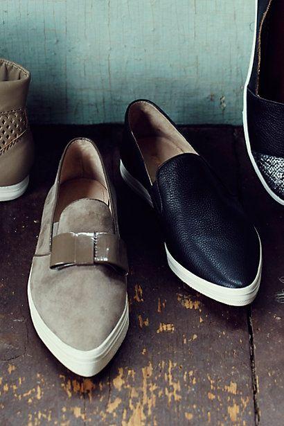 Loving these casual, elegant pointed slip ons. #anthrofav