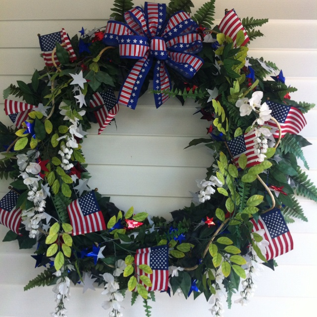 Memorial Day Wreath: American Pride, Blue, July Wreaths, Wreaths And Centerpieces, Wreaths Ideas, 4Th Holidays, Memorial Day Wreaths, Memories Day Wreaths, Jyst Wreaths