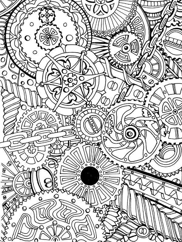 Animal mechanicals colouring : 120 best Colouring Pages Adults and Kids images on Pinterest