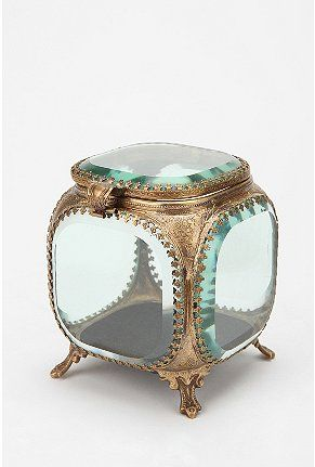 Glass jewelry box from Urban - so gorgeous! my great grandma had one just like this