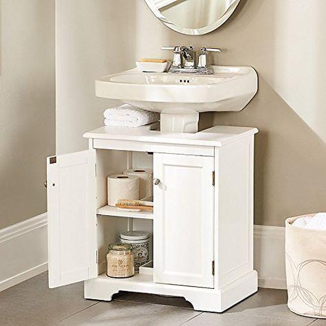 17 best ideas about pedestal sink on pinterest pedestal sink bathroom bath powder and powder - Simply design a bathroom vanity with five steps ...