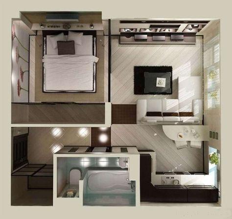 Charming Studio Apartment Floor Plans | Удобное и практичное решение для . Part 26