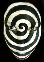 hypnotized by ARTSIE-FARTSIE-PAINT - Years ago I worked at a pro haunt. We had a room that was all black and white striped, with actors painted to match with a strobe light...