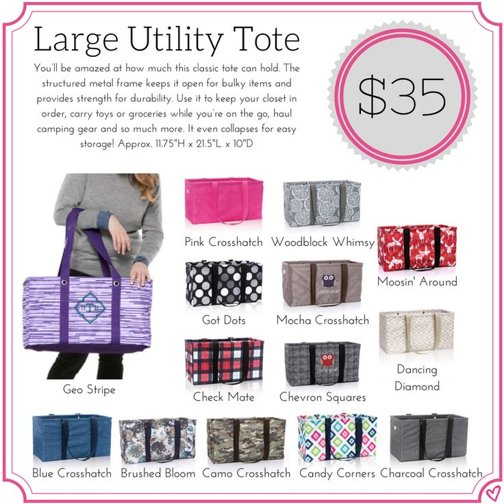 Thirty One Large Utility Tote Fall/Winter 2017