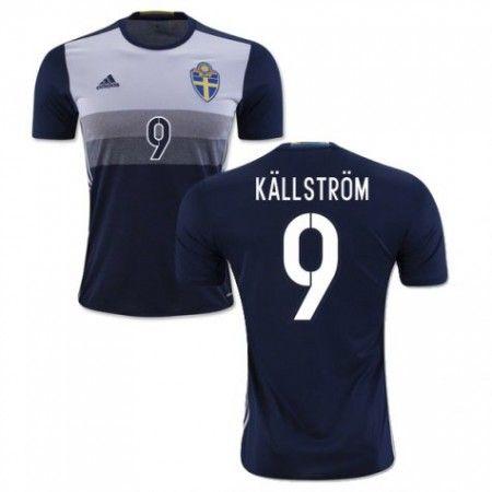 Sverige 2016 Kallstrom 9 Borte Drakt Kortermet.  http://www.fotballteam.com/sverige-2016-kallstrom-9-borte-drakt-kortermet.  #fotballdrakter