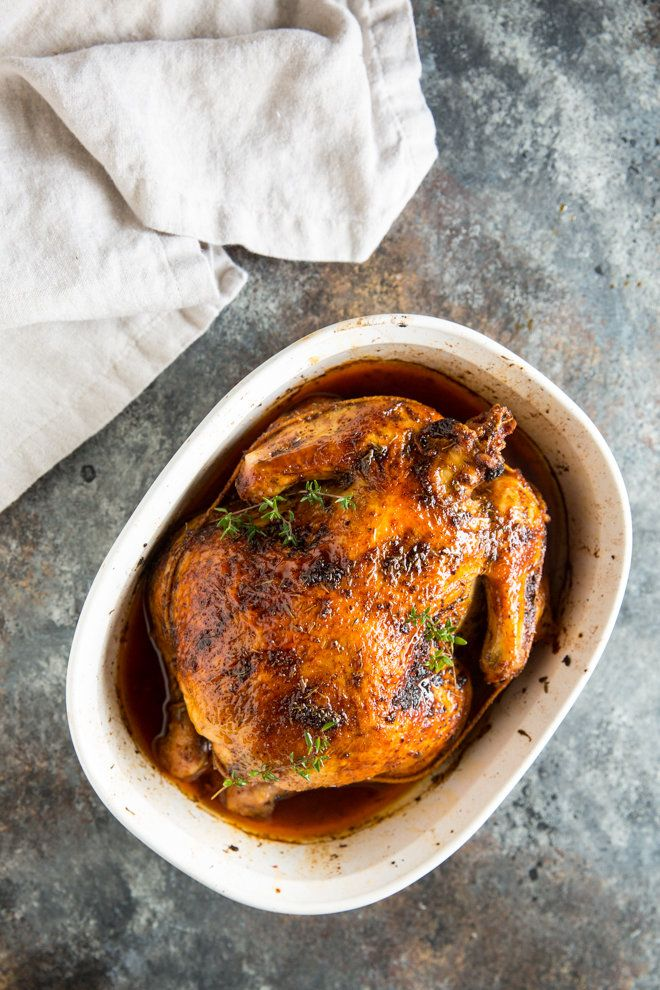Learn how to make Rotisserie Chicken at home using a simple spice blend and a whole chicken or any combination of chicken pieces. Slow-Cooker friendly!