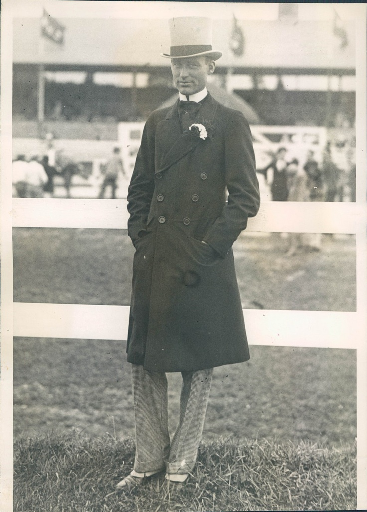 Rhode Island Gov William Henry Vanderbilt at the Newport Horse Show. He was Consuelo Vanderbilt's first cousin once removed, the son of Alfred Gwynne Vanderbilt.