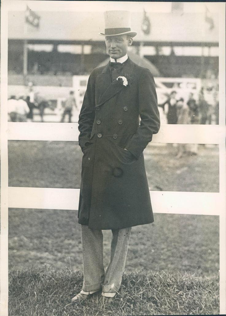 Rhode Island Gov William Henry Vanderbilt at the Newport Horse Show. He was Consuelo Vanderbilt's first cousin once removed, the son of Alfred Gwynne Vanderbilt.
