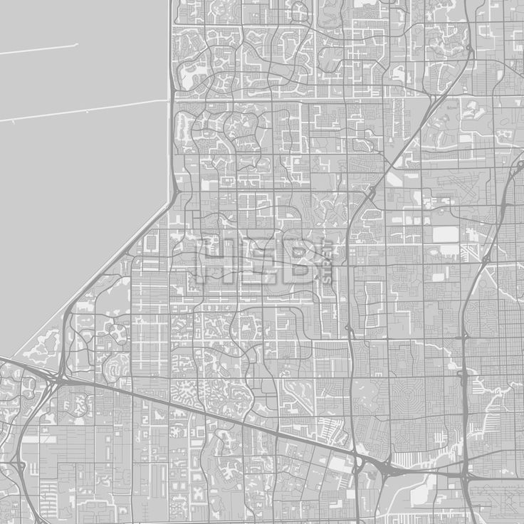 The 25 best map of florida cities ideas on pinterest florida sunrise downtown and surroundings map in grey version with many details for high zoom levels publicscrutiny Choice Image