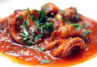 """Italian Octopus Stewed in Wine and Tomatoes...trying to recreate an appetizer I had at """"Trattoria il Panino"""" in the north end"""