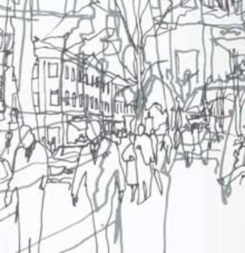 Wallpaper: Hetkia Moments Panel by Marimekko.